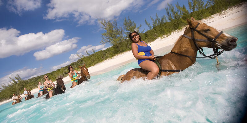 Half Moon Cay Horseback Riding (Photo: Carnival Cruise Line)