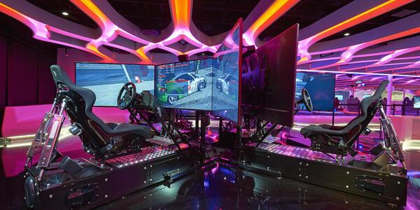 Car Simulator in The Galaxy Pavilion (Photo: Norwegian Cruise Line)