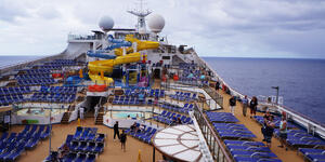 Photograph: Pool deck on Carnival Sunrise - Photo by Erica Silverstein/Cruise Critic Editor