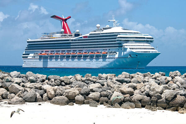 Photograph: Carnival Sunrise at Half Moon Cay - Photography provided by Carnival Cruise Line