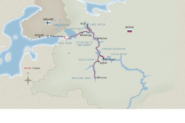 Volga River Cruise Map - Cruise Critic