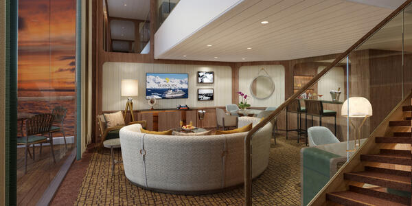 Wintergarden Suite Living Room (Photo: Seabourn Cruise Line)