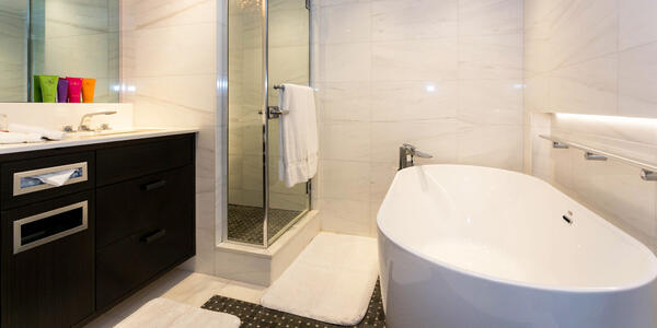 The Bathroom in The Owner's Suite on Crystal Esprit (Photo: Cruise Critic)