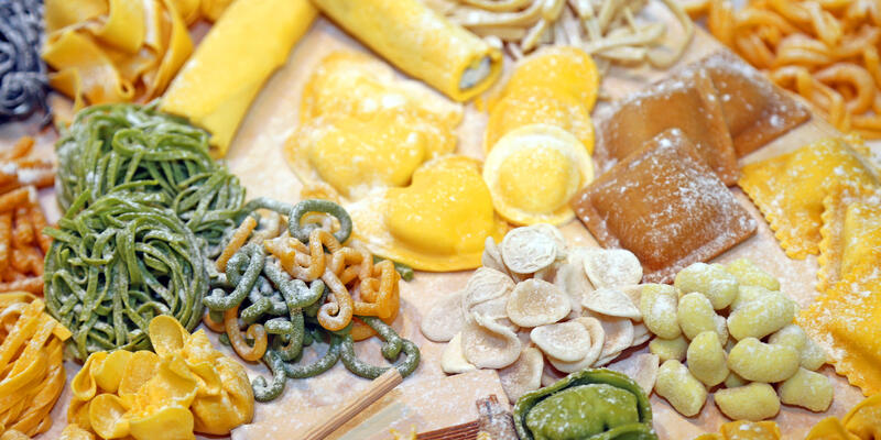 Pasta in Italy (via Shutterstock)