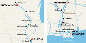 Map Of America Mississippi River.Mississippi River Cruise Map Cruise Critic