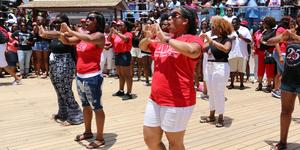 Image: Step show competition hosted by Festival at Sea. - Photo courtesy of Festival at Sea via Blue World Travel Corp.
