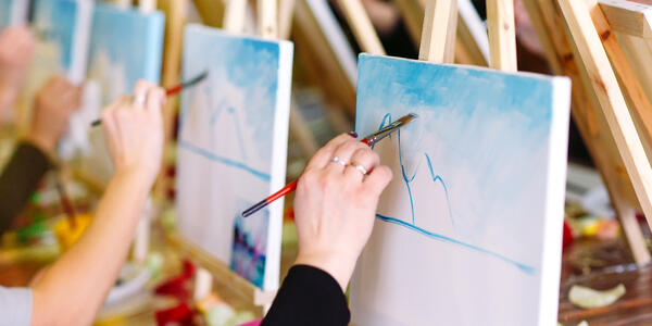 Painting Class (Photo: David Tadevosian/Shutterstock)