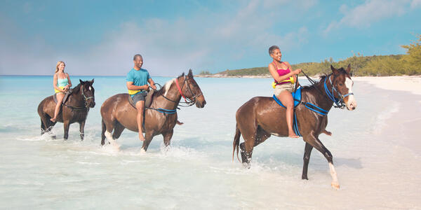 Half Moon Cay Horseback Riding (Photo: Holland America)
