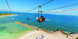 Dragon's Breath Flight Line in Labadee, Haiti (Photo: Royal Caribbean International)
