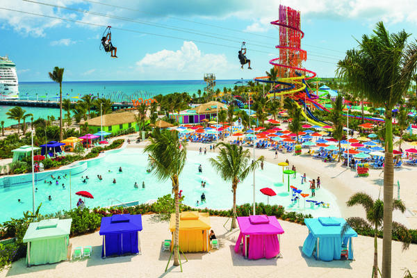 The Thrill Waterpark and Zipline at CocoCay (Photo: Royal Caribbean International)