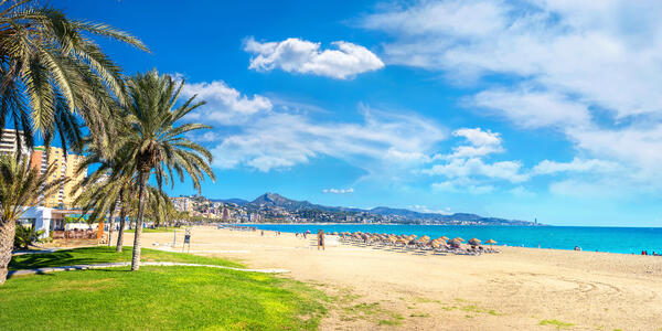 Malagueta Beach in Malaga, Spain (Photo: Valery Bareta/Shutterstock)