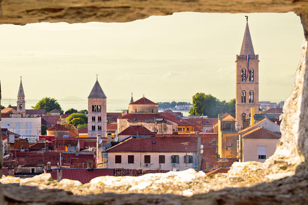 Old City of Zadar View Through a Stone Window in Dalmatia, Croatia (Photo: xbrchx/Shutterstock)
