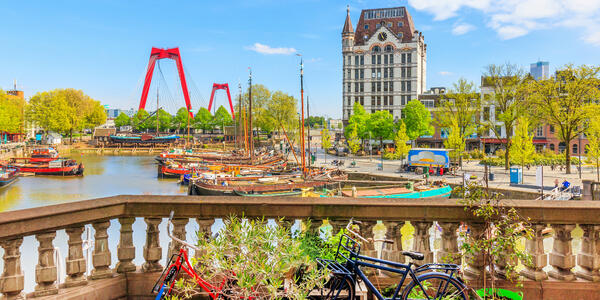 View of Oude Haven in Rotterdam From A Balcony (Photo: Z. Jacobs/Shutterstock)