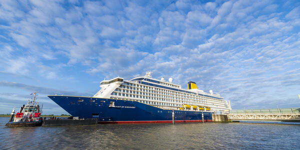 Saga Cruises' new ship, Spirit of Discovery, is set to be christened by HRH The Duchess of Cornwall in Dover
