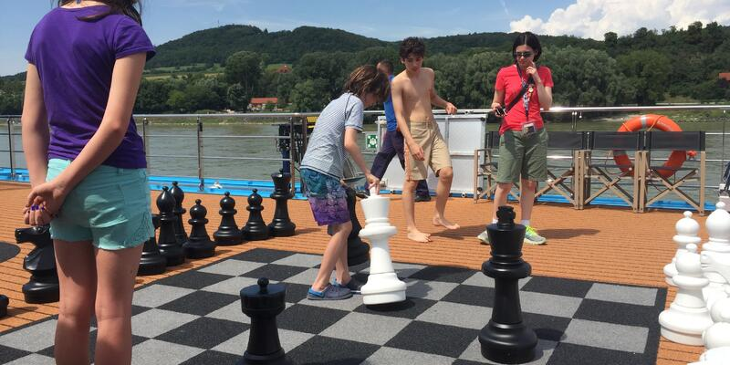 Game of Deck Chess Onboard AmaViola (Photo: Adam Coulter/Cruise Critic)