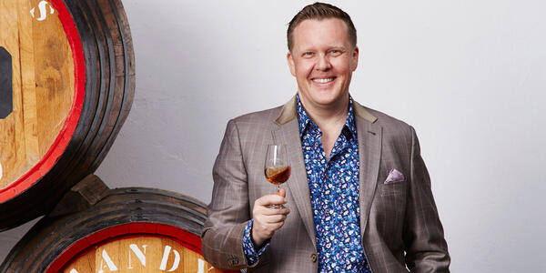 Wine expert 'Jolly' Olly Smith, the mastermind behind the Glass House a wine bar on select P&O cruises (Photo: P&O Cruises)
