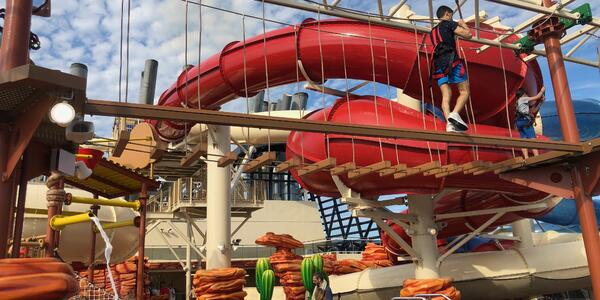 Ropes course and Arizona waterpark onboard MSC Bellissima
