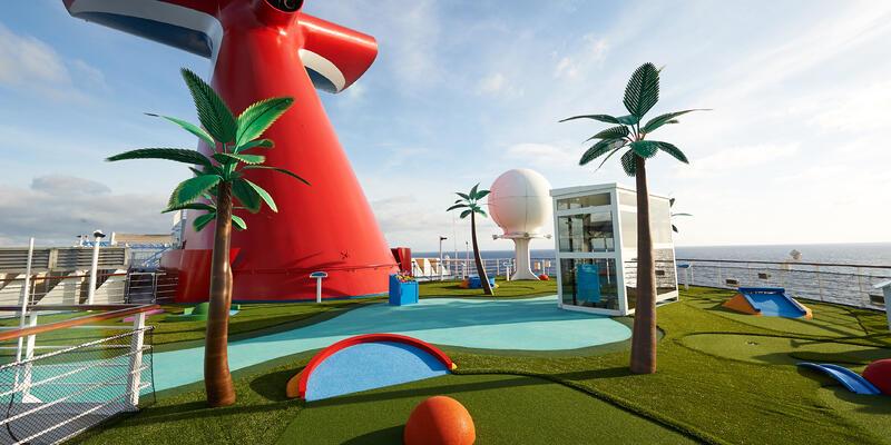 Carnival Sunrise's Mini Golf (Photo: Carnival Cruise Line)