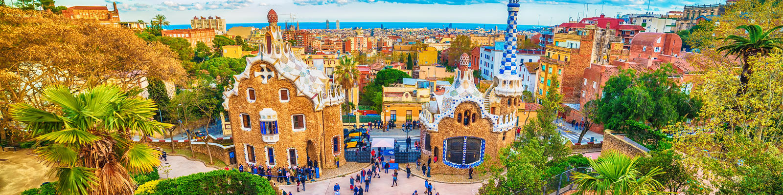 Image: Aerial view of Park Guell, designed by Antoni Gaudi, Barcelona, Catalonia, Spain (Photo: krivinis/Shutterstock)