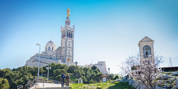 Image: Notre-Dame de la Garde (Our Lady of the Guard), a Catholic basilica in Marseille, France (Photo: Mariia Golovianko/Shutterstock)