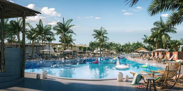 The Main Pool at The Beach Club in Bimini, Bahamas (Photo: Virgin Voyages)