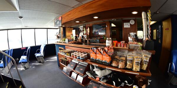 The Snack Shop Onboard the Ferry (Photo: Christina Janansky/Cruise Critic)