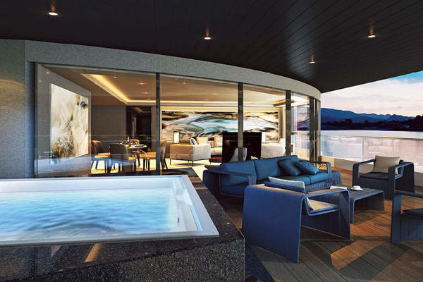 The Balcony Suite on Scenic Eclipse (Photo: Scenic)