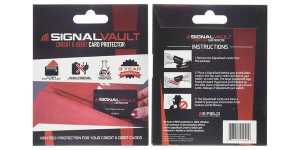 SignalVault SV-2Pack RFID Blocking Signal Vault Credit & Debit Card Protector (Photo: Amazon)