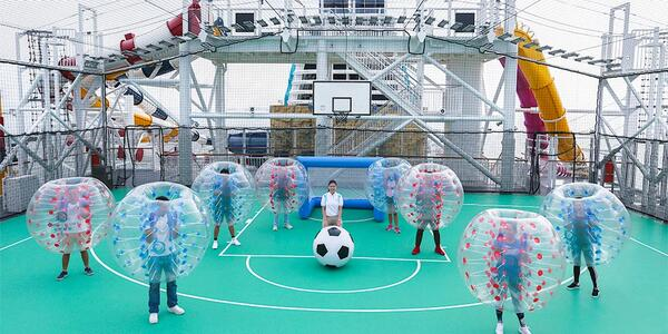 Bubble Football (Photo: Dream Cruise Line)