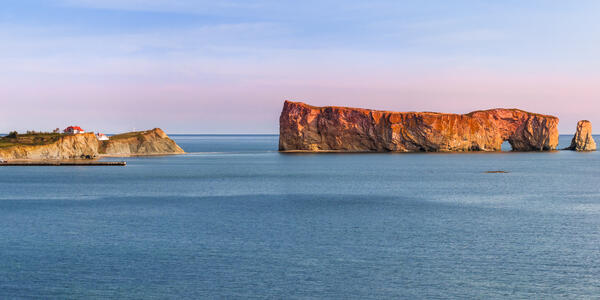 Perce Rock from Gaspe Peninsula at Sunset in Quebec, Canada (Photo: Elena Elisseeva/Shutterstock)