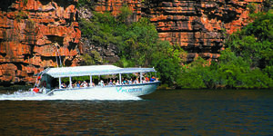 Image: Xplorer, Coral Princess Cruises tender fully loaded at speed in the Kimberley (Photo: Roderick Eime)