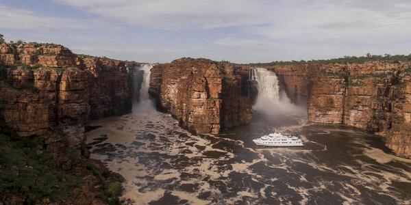 Image: Kings George Falls, The Kimberley, Western Australia (Photo: True North Adventure Cruises)