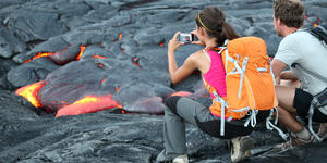 Couple Shooting at Volcano (Photo: Maridav/Shutterstock)