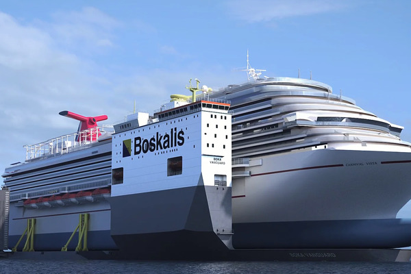 The First-Ever Floating Dry Dock (Photo: Carnival Cruise Line)