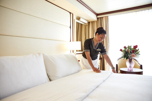How Much Should I Tip My Room Steward on a Cruise? (Photo: Princess Cruises)