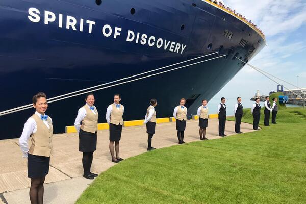 Saga Cruises Spirit of Discovery Naming Crew