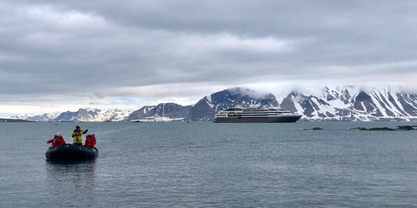Zodiac excursion from an Arctic cruise on Le Boréal hosted by Tauck Small Ship Cruises (Photo: Chris Gray Faust)