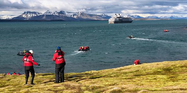 Hiking excursion from an Arctic cruise on Le Boréal hosted by Tauck Small Ship Cruises (Photo: Chris Gray Faust)