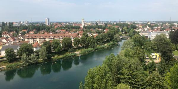 View of the Rhine River running through Kehl, Germany (Photo: Adam Coulter)