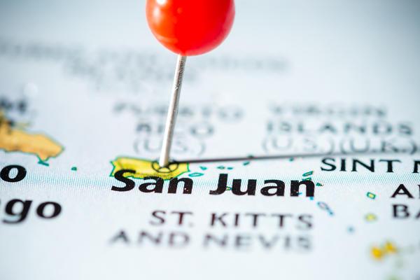 San Juan Pinned on Map (Photo: atdr/Shutterstock)