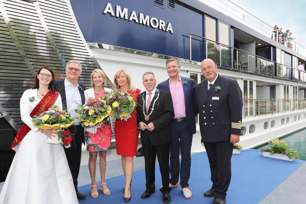 AmaWaterways Christens New AmaMora River Cruise Ship on the Rhine (Photo: AmaWaterways)