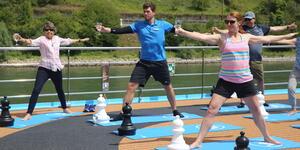 Yoga Onboard (Photo: Louise Goldsbury)