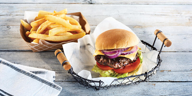 The Burgers & Fries Offered at the Salty Dog Grill (Photo: Princess Cruises)
