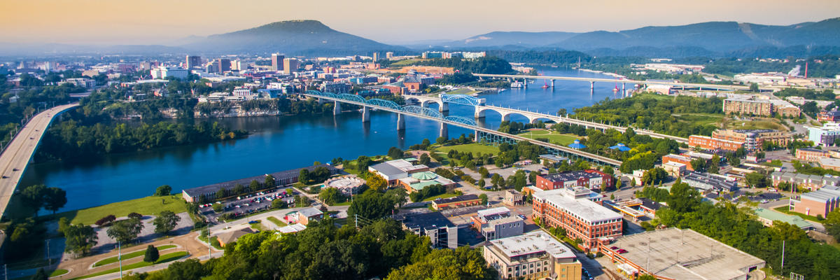 Chattanooga, Tennessee (Photo: Drone Trekkers/Shutterstock)