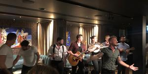 Choir of Man performs at Sette