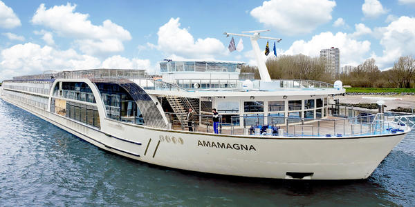 Exterior shot of AmaMagna on a sunny day