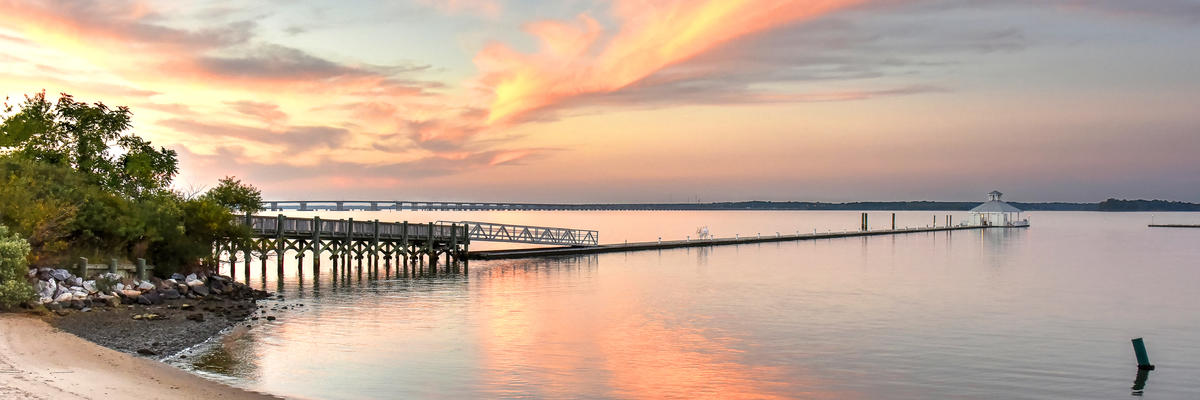 A Beautiful Sunset Over Choptank River of Maryland's Eastern Shore (Photo: Keri Delaney/Shutterstock)