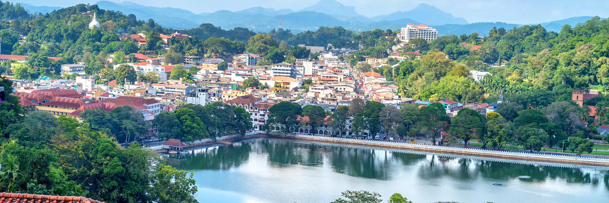 A Scenic Beautiful Aerial View of Kandy in Sri Lanka (Photo: Yakov Oskanov/Shutterstock)