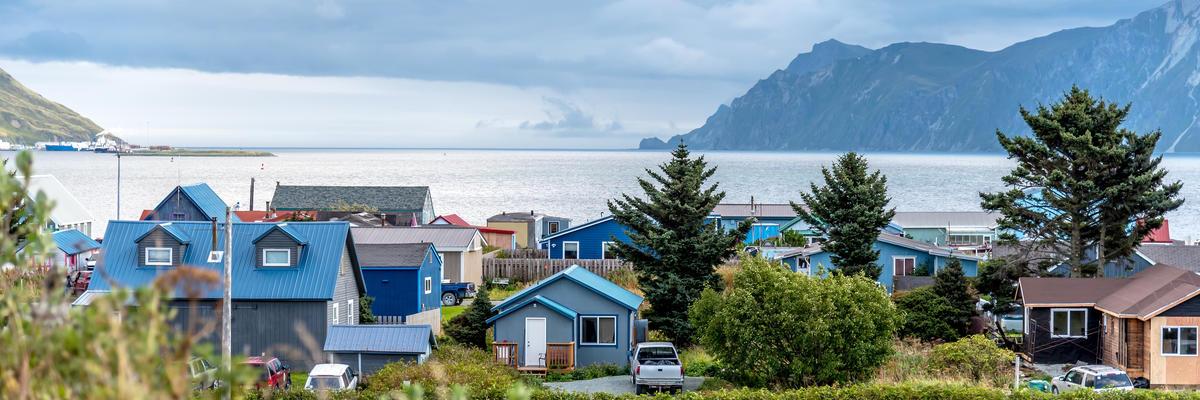 Neighborhood View in Dutch Harbor Unalaska, Alaska, With Scenic Views (Photo: mark stephens photography/Shutterstock)