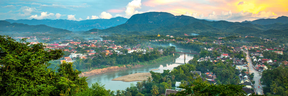 Viewpoint of Luang Prabang City at Phusi Hill, Luang Prabang, Laos (Photo: Suthikait Teerawattanaphan/Shutterstock)